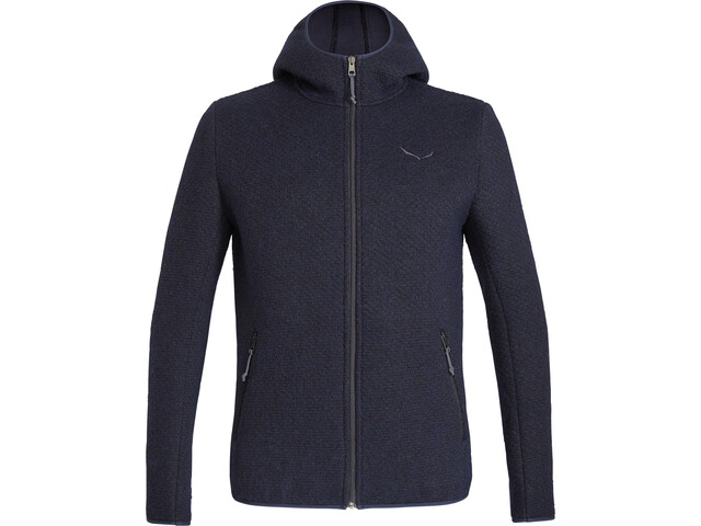 SALEWA Woolen 2 Layer Hoodie Men premium navy melange
